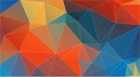 Fondo multicolor plano del triángulo Fotografía de archivo