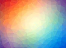 Fondo multicolor polivinílico bajo abstracto Foto de archivo libre de regalías