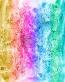 Fondo multicolore acquerello astratto per scrapbooking e Immagini Stock