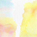 Fondo multicolore astratto dell'acquerello Fotografie Stock