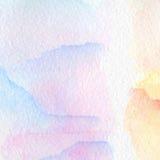 Fondo multicolore astratto dell'acquerello Fotografie Stock Libere da Diritti