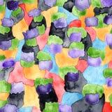 Fondo multicolore colorato acqua con il modello Immagine Stock Libera da Diritti