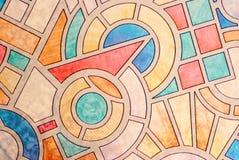Fondo multicolore del vetro macchiato Fotografia Stock Libera da Diritti