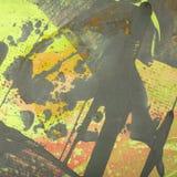 Fondo multicolore dell'estratto del primo piano delle pitture ad olio degli artisti illustrazione vettoriale