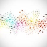 Fondo multicolore della rete di tecnologia Immagine Stock