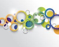 Fondo multicolore di concetto di infographics di vettore Fotografie Stock Libere da Diritti