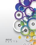 Fondo multicolore di concetto di infographics di vettore Fotografia Stock