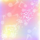 Fondo multicolore di musica Fotografie Stock Libere da Diritti