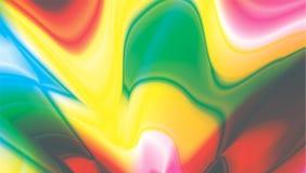 Fondo multicolore di progettazione di frattale delle onde leggere Fotografia Stock Libera da Diritti