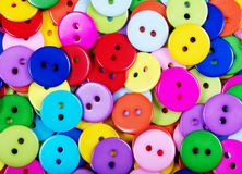Fondo multicolore di struttura dei bottoni Fotografie Stock Libere da Diritti