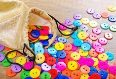 Fondo multicolore di struttura dei bottoni Immagine Stock Libera da Diritti