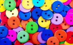Fondo multicolore di struttura dei bottoni Fotografia Stock