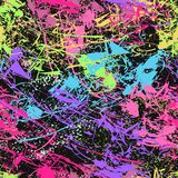 Fondo multicolore e nero Reticolo senza giunte illustrazione vettoriale