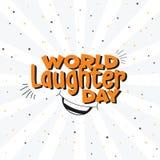 Fondo multiuso di vettore di giorno di risata del mondo illustrazione vettoriale