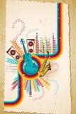 Fondo musical ilustración del vector
