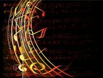 Fondo musical Imagen de archivo libre de regalías