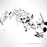 Fondo musical abstracto con las notas Foto de archivo libre de regalías