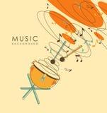 Fondo musical abstracto del vintage Imagenes de archivo
