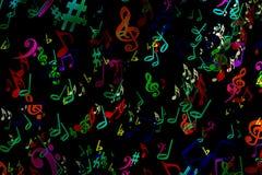 Fondo musical abstracto en estilo de la pintada notas Música Fa Fotos de archivo