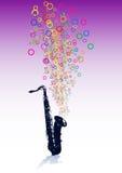 Fondo musical abstracto - vector del EPS Imagenes de archivo