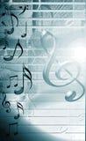 Fondo musical azul Imágenes de archivo libres de regalías