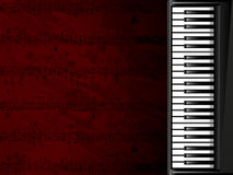 Fondo musical con el teclado de piano Foto de archivo libre de regalías