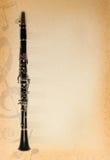 Fondo musical con la flauta Fotografía de archivo libre de regalías