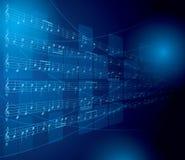 Fondo musical con las notas y los cuadrados - EPS 10 Foto de archivo