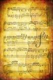 Fondo musical de Grunge Fotografía de archivo libre de regalías
