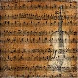 Fondo musical de Grunge con el bosquejo Ilustración del Vector