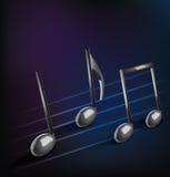 Fondo musicale astratto con le note Fotografie Stock