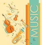 Fondo musicale d'annata Fotografia Stock Libera da Diritti