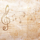 Fondo musicale di lerciume Fotografie Stock