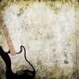 Fondo musicale di lerciume Fotografie Stock Libere da Diritti