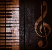 Fondo musicale scuro di lerciume Fotografia Stock Libera da Diritti