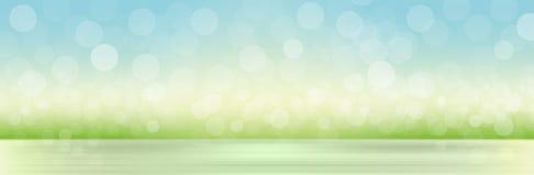 Fondo natural con la hierba y el cielo borrosos ilustración del vector