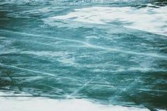 Fondo natural congelado hielo del lago Fotos de archivo libres de regalías