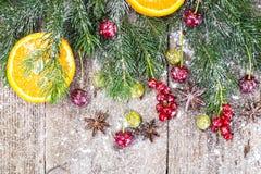 Fondo natural de la Navidad abstracta en Grey Boards Imágenes de archivo libres de regalías