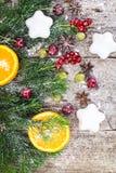 Fondo natural de la Navidad abstracta en Grey Boards Foto de archivo