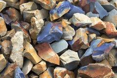 Fondo natural de la textura del pedregal de la roca Imágenes de archivo libres de regalías