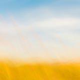 Fondo natural Defocused de la hierba y del cielo Fotografía de archivo