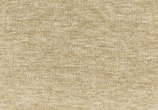 Fondo naturale di struttura della lana tricottato beige Fotografia Stock