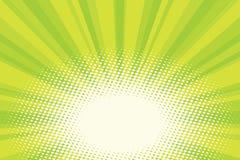 Fondo naturale verde di Pop art di alba di eco illustrazione vettoriale