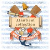 Fondo nautico con testo royalty illustrazione gratis