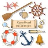 Fondo nautico con testo illustrazione di stock