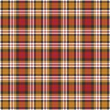 Fondo negro, amarillo, rojo y blanco de la tela escocesa Fotos de archivo