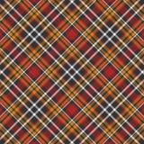 Fondo negro, amarillo, rojo y blanco de la tela escocesa Fotografía de archivo libre de regalías