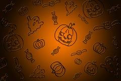 Fondo negro anaranjado del partido de Halloween ilustración del vector