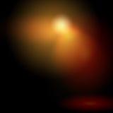 Fondo negro con el punto ligero del color Imagenes de archivo