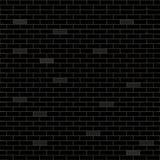 Fondo negro con los ladrillos Ilustración del vector Fotos de archivo libres de regalías